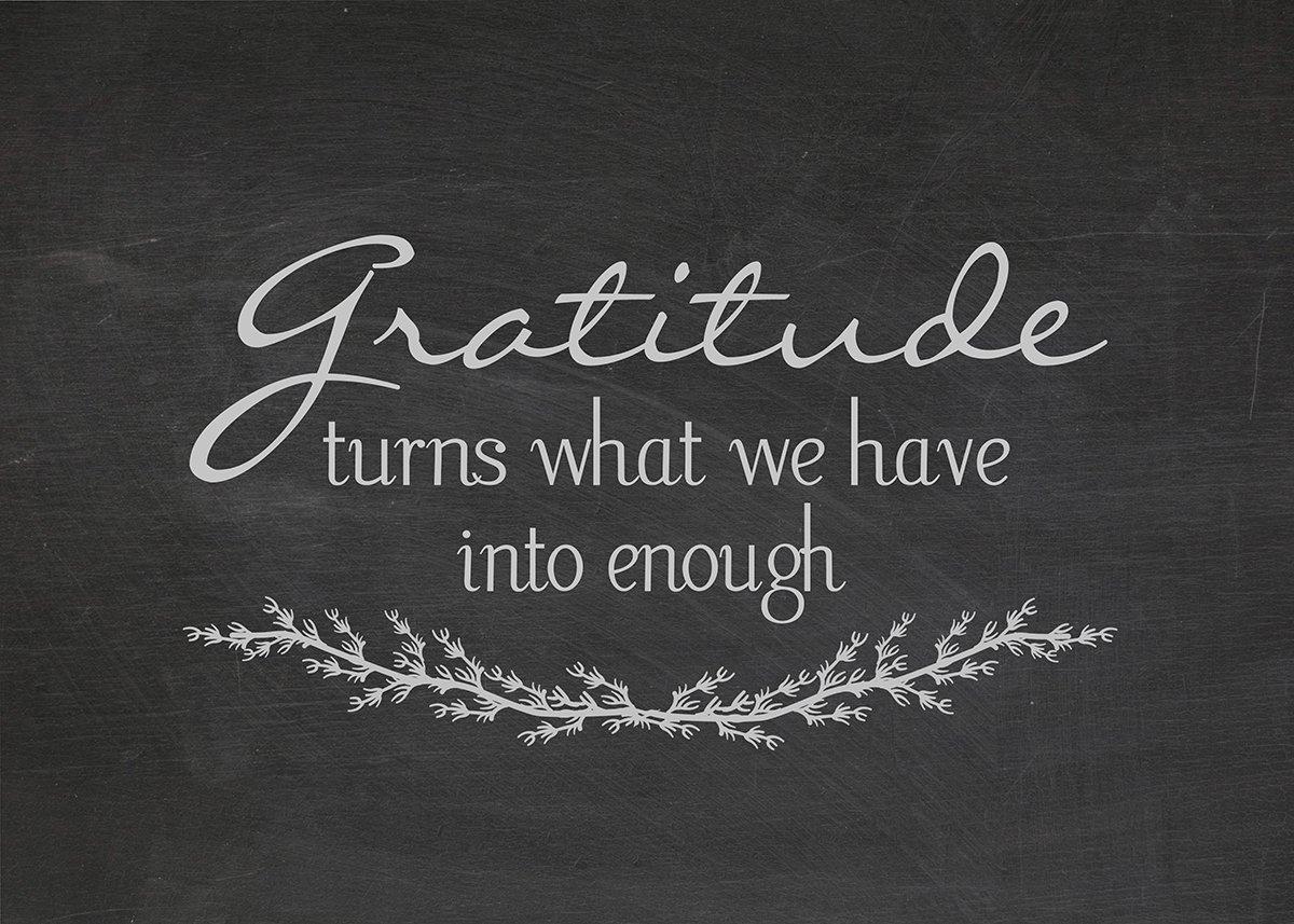 Positive attitude & gratitude